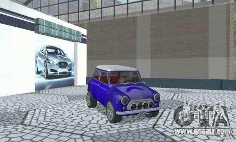 Mini Cooper S for GTA San Andreas inner view