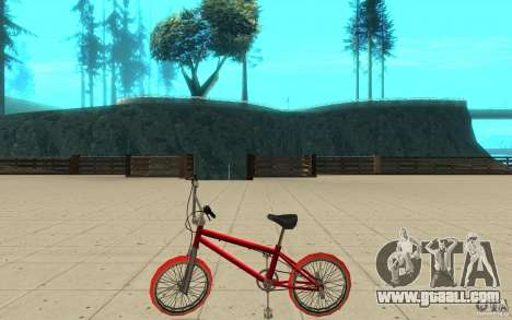 Zeros BMX RED tires for GTA San Andreas left view