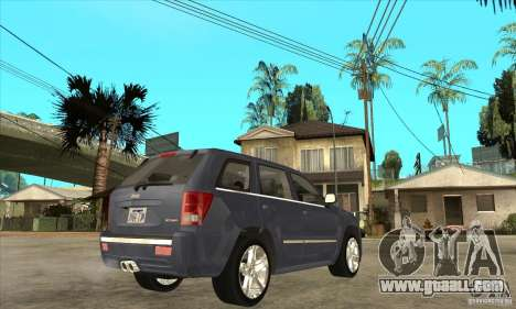 Jeep Grand Cherokee SRT8 v2.0 for GTA San Andreas right view