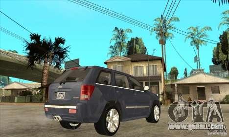 Jeep Grand Cherokee SRT8 v2.0 for GTA San Andreas right view