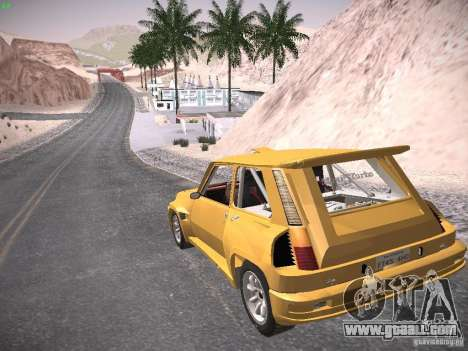 Renault 5 Turbo for GTA San Andreas left view