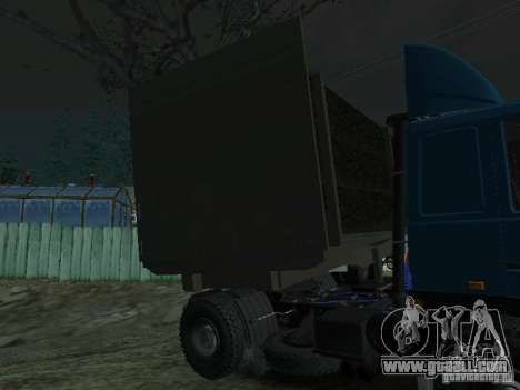 Timber trailer for tractor for GTA San Andreas back left view