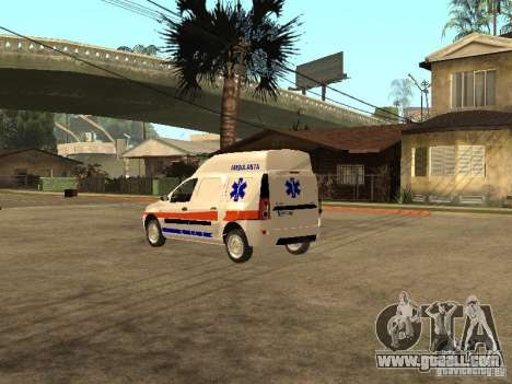 Dacia Logan Ambulanta for GTA San Andreas back left view