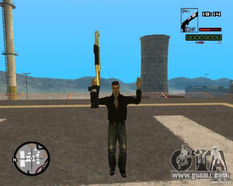 Shotgun Gold for GTA San Andreas second screenshot
