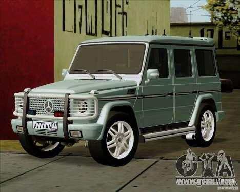 Mercedes-Benz G500 1999 for GTA San Andreas