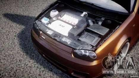 Volkswagen Golf IV R32 for GTA 4 inner view
