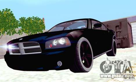 Dodge Charger Fast Five for GTA San Andreas upper view