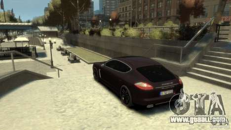 PORSCHE Panamera Turbo for GTA 4 left view