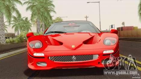 Ferrari F50 v1.0.0 Road Version for GTA San Andreas right view