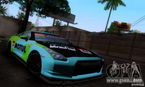 Nissan GTR R35 Tuneable for GTA San Andreas upper view