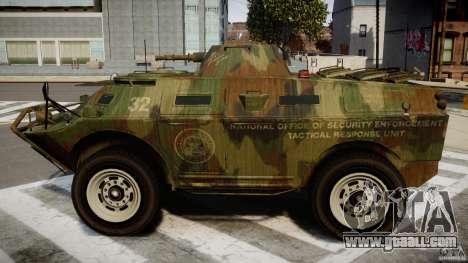 Camo APC for GTA 4 left view