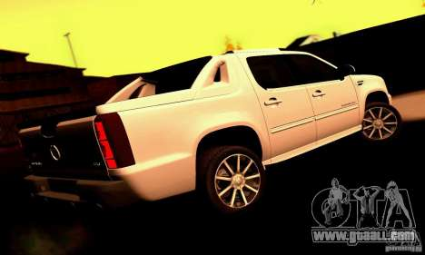 Cadillac Escalade Ext for GTA San Andreas back left view