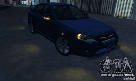 Subaru Legacy 2004 v1.0 for GTA San Andreas bottom view