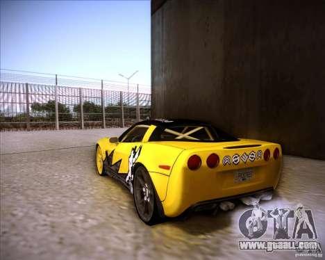 Chevrolet Corvette C6 super promotion for GTA San Andreas left view