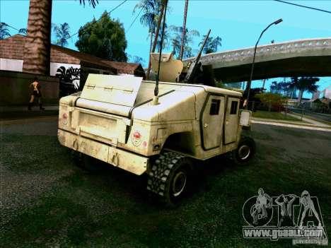 Hummer H1 Irak for GTA San Andreas back left view