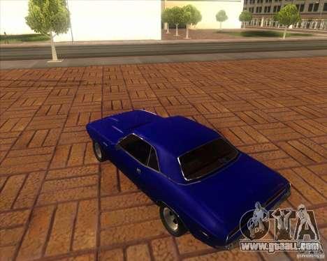 Dodge Challenger RT Hemi for GTA San Andreas back left view