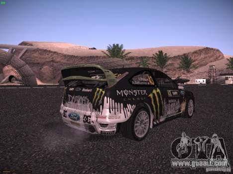 Ford Focus RS Monster Energy for GTA San Andreas back left view