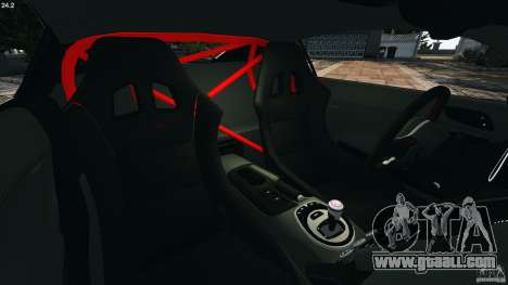 Audi R8 GT 2012 for GTA 4 inner view
