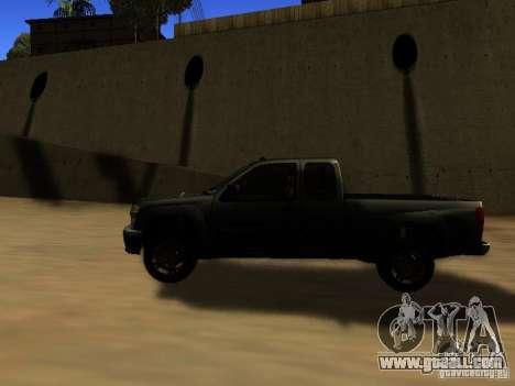 Chevrolet Colorado for GTA San Andreas left view