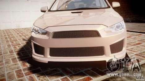 Mitsubishi Lancer Evolution X for GTA 4 upper view