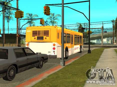 New Flyer D40LF for GTA San Andreas back left view