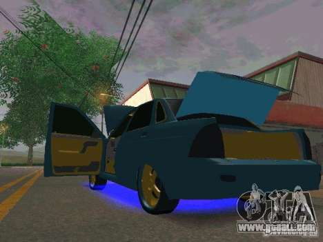 LADA 2170 Priora Gold Edition for GTA San Andreas back left view