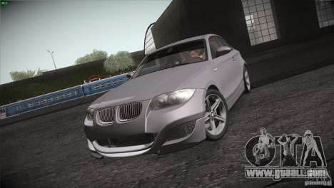 BMW 135i Coupe Road Edition for GTA San Andreas inner view