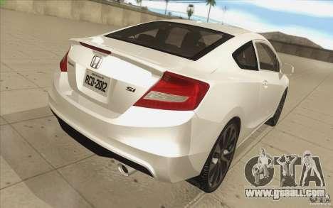 Honda Civic SI 2012 for GTA San Andreas upper view