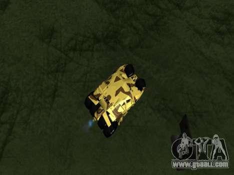 Army Tumbler v2.0 for GTA San Andreas back view