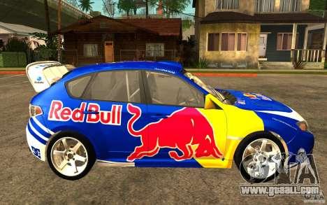 New vinyls to Subaru Impreza WRX STi for GTA San Andreas left view
