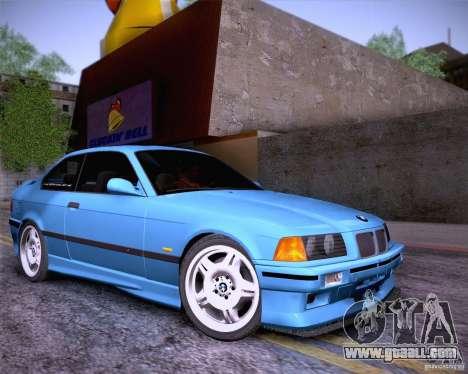 BMW M3 E36 1995 for GTA San Andreas upper view