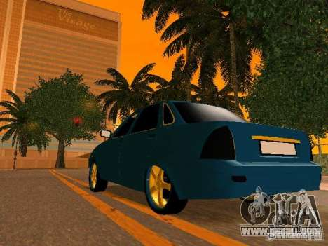 LADA 2170 Priora Gold Edition for GTA San Andreas engine