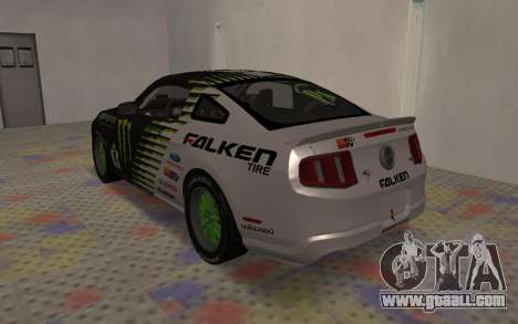 Ford Mustang GT Falken Monster 2010 v2.0 for GTA San Andreas right view