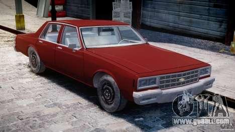 Chevrolet Impala 1983 for GTA 4 inner view