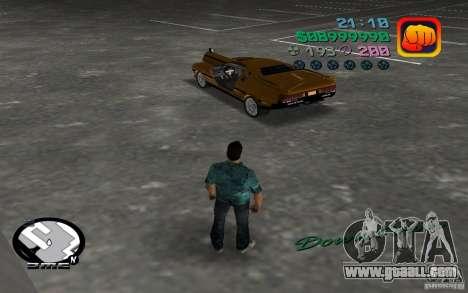 Delorean DMC-13 for GTA Vice City back left view