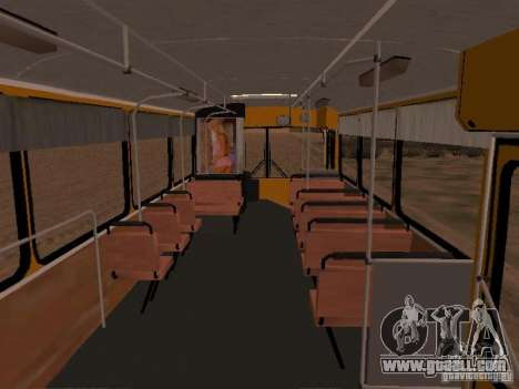 Mercedes-Benz O305 for GTA San Andreas back left view