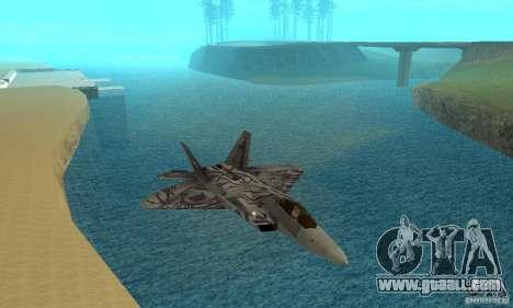 F-22 Starscream for GTA San Andreas upper view