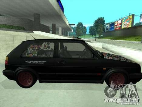 Volkswagen Golf 2 Rat Style for GTA San Andreas right view