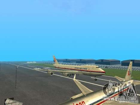 Boeing 747-100 Japan Airlines for GTA San Andreas left view