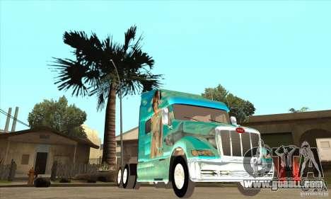 Peterbilt 387 skin 4 for GTA San Andreas inner view