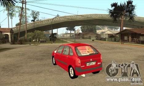 Citroen Xsara Picasso for GTA San Andreas back left view