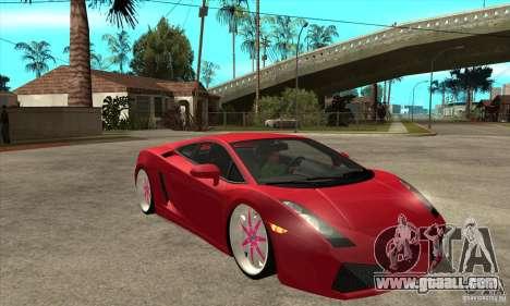 Lamborghini Gallardo White & Pink for GTA San Andreas back view