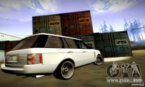Range Rover Supercharged for GTA San Andreas bottom view