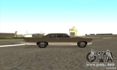 Pontiac GT-100 for GTA San Andreas inner view
