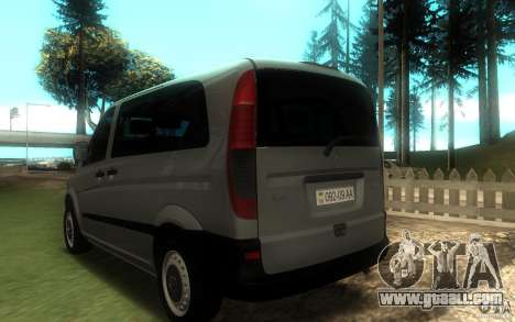 Mercedes-Benz Vito 2007 for GTA San Andreas left view