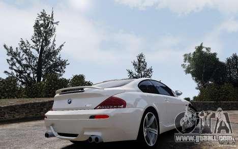 BMW M6 2010 v1.4 for GTA 4 inner view