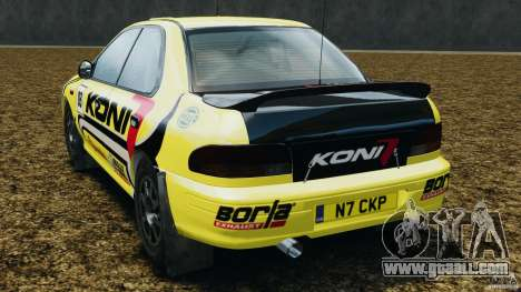 Subaru Impreza WRX STI 1995 Rally version for GTA 4 back left view