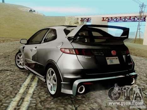 Honda Civic TypeR Mugen 2010 for GTA San Andreas left view