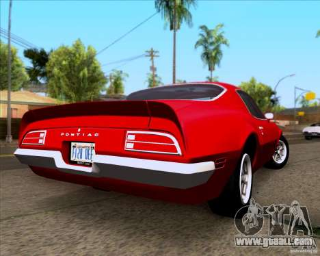 Pontiac Firebird 1970 for GTA San Andreas right view