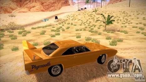 Plymouth Roadrunner Superbird Custom for GTA San Andreas left view